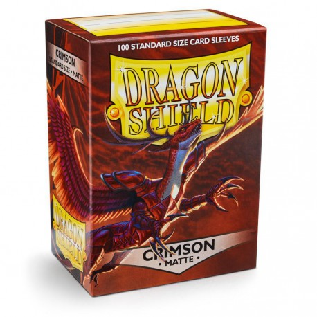 Dragon Shield Sleeves: Crimson Matte (100)