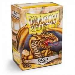 Dragon Shield Sleeves: Gold Matte (100)