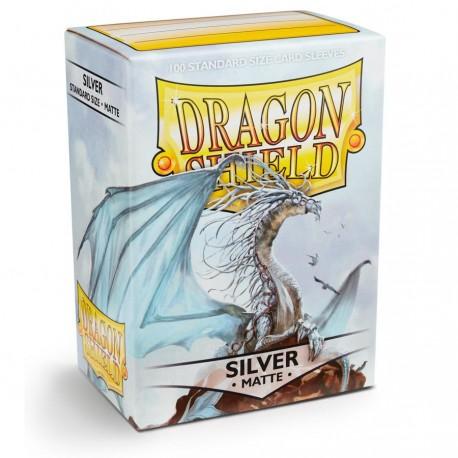 Dragon Shield Sleeves: Silver Matte (100)