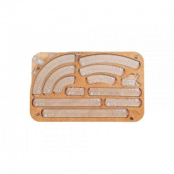Space Fighter Manouver Tray 2.0 - Light Blue