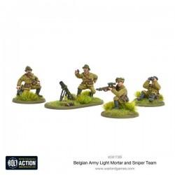Belgian Army Light Mortar & Sniper Teams