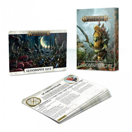Warscroll Cards: Gloomspite Gitz (Castellano)