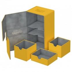 Twin Flip'n'tray 200+ Caja de Cartas Tamaño Estándar Xenoskin Ámbar