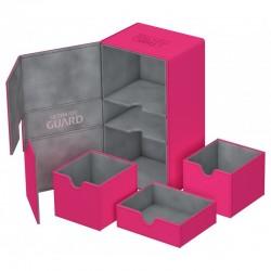 Twin Flip'n'Tray 200+ Caja de Cartas Tamaño Estándar XenoSkin Rosa
