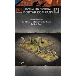 82mm or 120mm Mortar Company (6 teams) Plastic
