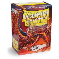 Dragon Shield Sleeves: Red Matte (100)