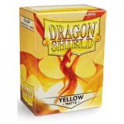 Dragon Shield Sleeves: Yellow Matte (100)
