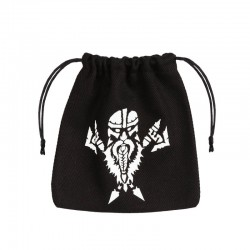 Dice Bag Dwarven Black & White