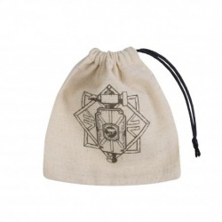 Dice Bag Dwarven Beige & Black Basic