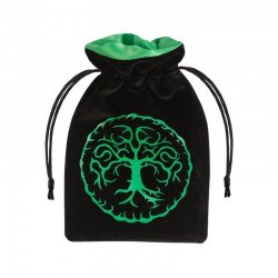 Dice Bag Forest Black & Green Velour