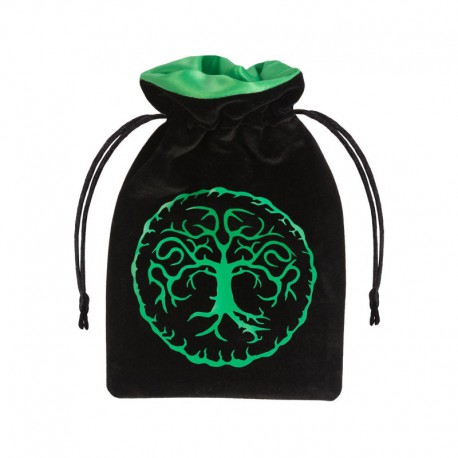 Bolsa de Dados Forest Black & Green Velour