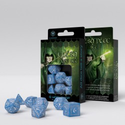 Elvish Glacier & White Dice Set (7)